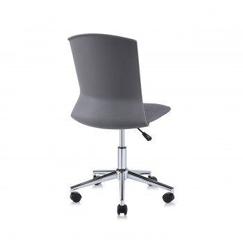 MY SIT Office Chair / Design Stool Swivel Chair NEO with Soft Floor Castors in Grey – Bild 5