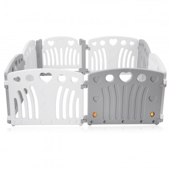 Baby Vivo Playpen Plastic 8 Elements in Grey / White - Judy – Bild 4
