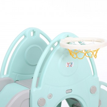 Baby Vivo Kids slide / Children´s slide in Turquoise / Grey – Bild 13