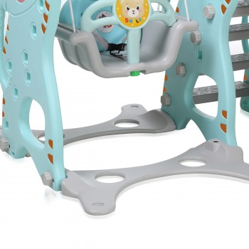 Baby Vivo Kids Swing Playground with Slide for Indoor and Outdoor in Green / Grey – Bild 11