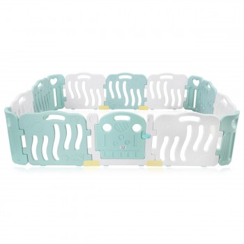Baby Vivo Playpen Plastic 14 Elements in Turquoise / White - Bailey  – Bild 2