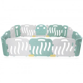 Baby Vivo Playpen Plastic 14 Elements in Turquoise / White - Bailey  – Bild 3