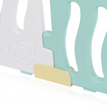 Baby Vivo Playpen Plastic 14 Elements in Turquoise / White - Bailey  – Bild 11