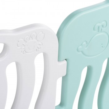 Baby Vivo Playpen Plastic 14 Elements in Turquoise / White - Bailey  – Bild 5