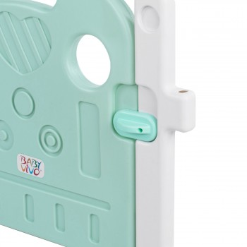 Baby Vivo Playpen Plastic 14 Elements in Turquoise / White - Bailey  – Bild 7