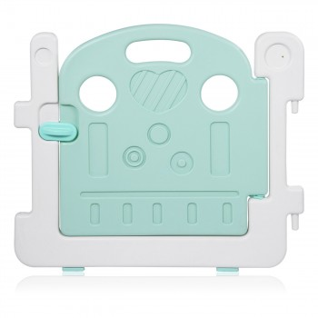 Baby Vivo Playpen Plastic 14 Elements in Turquoise / White - Bailey  – Bild 6